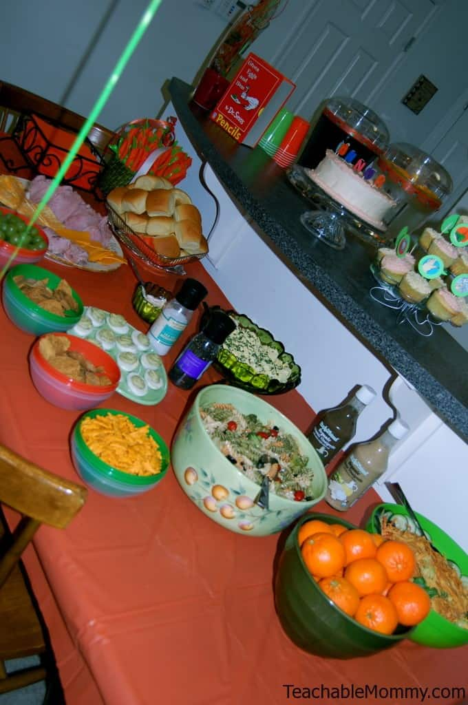 Green Eggs and Ham food, Green Eggs and Ham Birthday Party