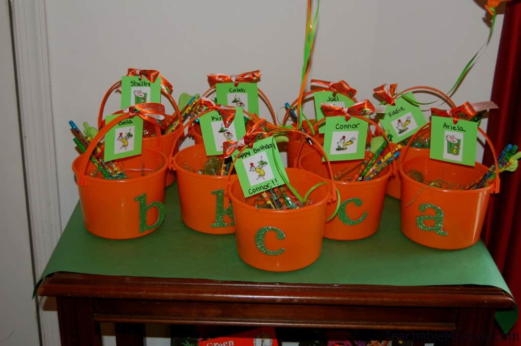 Green Eggs and Ham Goody Bags, Green Eggs and Ham Birthday Party