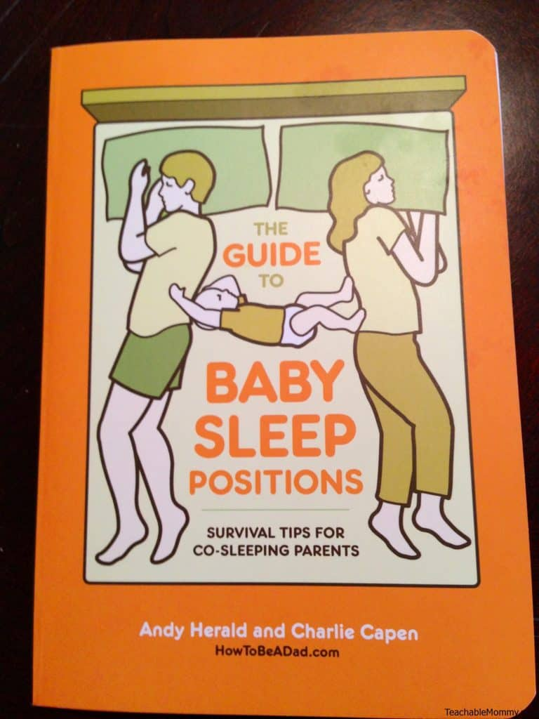 Review of The Guide to Baby Sleep Positions Survival Tips for Co-Sleeping Parents, hilarious book on co-sleeping