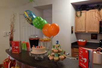 Green Eggs and Ham Birthday Party: Decorations