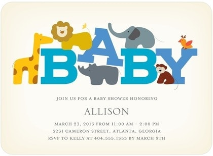 Tiny Prints Baby Shower Invitations