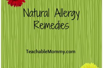Natural Allergy Remedies!
