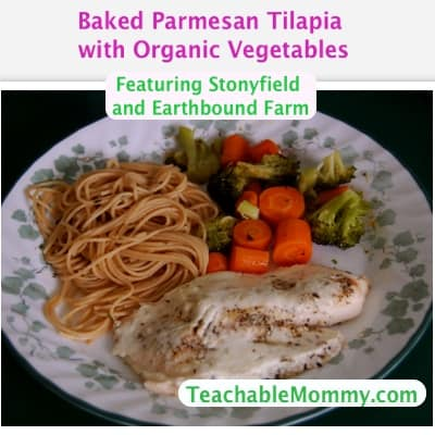 Baked Parmesan Tilapia with Organic Vegetables