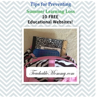 Preventing Summer Learning Loss, Free Websites for Kids, 10 Free Educational Websites, Summer Boredom Busters