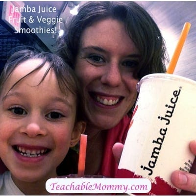 Jamba Juice Fruit and Veggie Smoothies