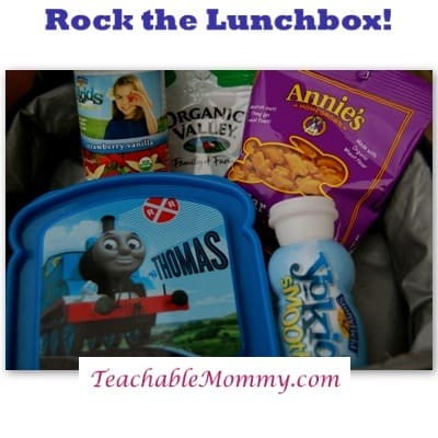 Rock the Lunchbox Giveaway Featuring Awesome Organic Brands: Stonyfield, Annie's, Organic Valley, and Honest Kids!