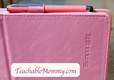 Snugg iPad2 case, leather iPad case, pink iPad case