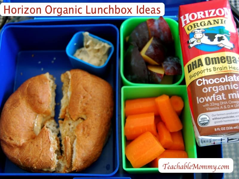 Horizon Organic Milk Boxes Giveaway, Lunchbox Ideas for Kids