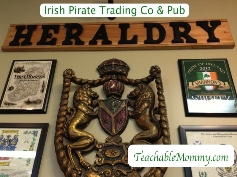 Irish Pirate Trading Company and Pub, Heraldry Research, cheap family name search