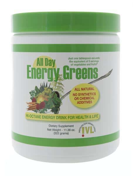 All Day Energy Greens, Natural green energy drink supplement, natural dietary supplement