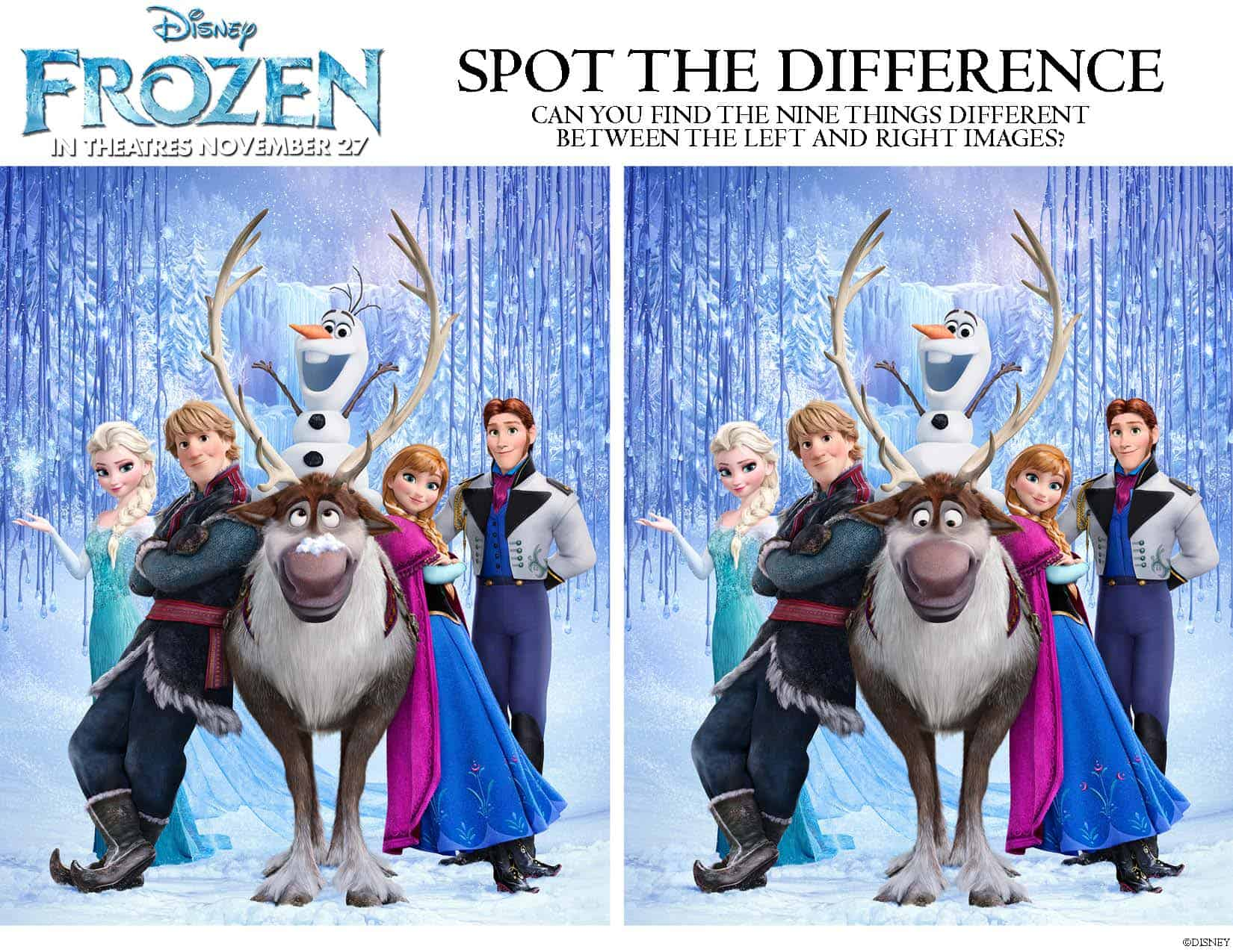 picture relating to Frozen Free Printable named Vacation spot the Variance, Frozen absolutely free printables! - With Ashley