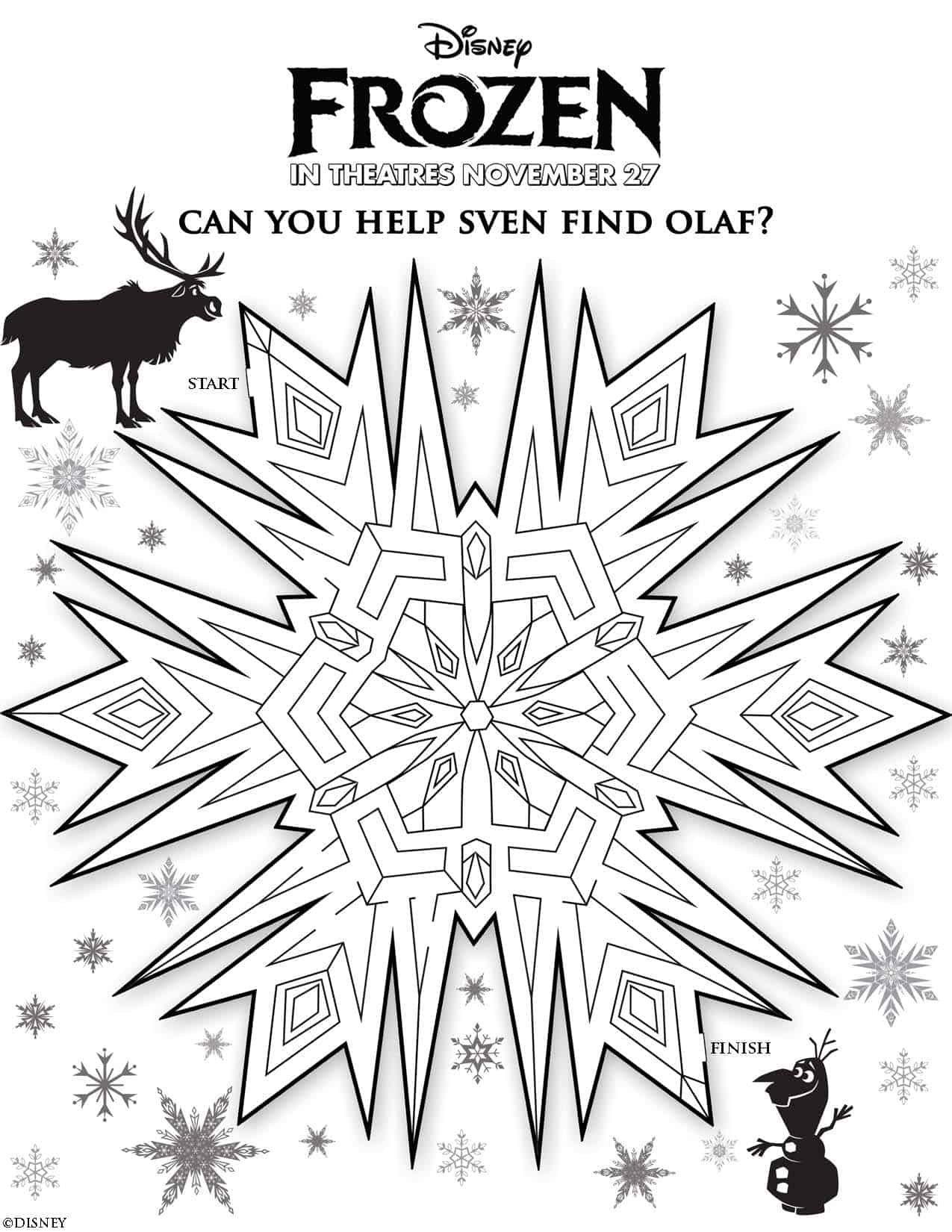 Disney 39 s frozen free printables disneyfrozen for Frozen coloring pages free