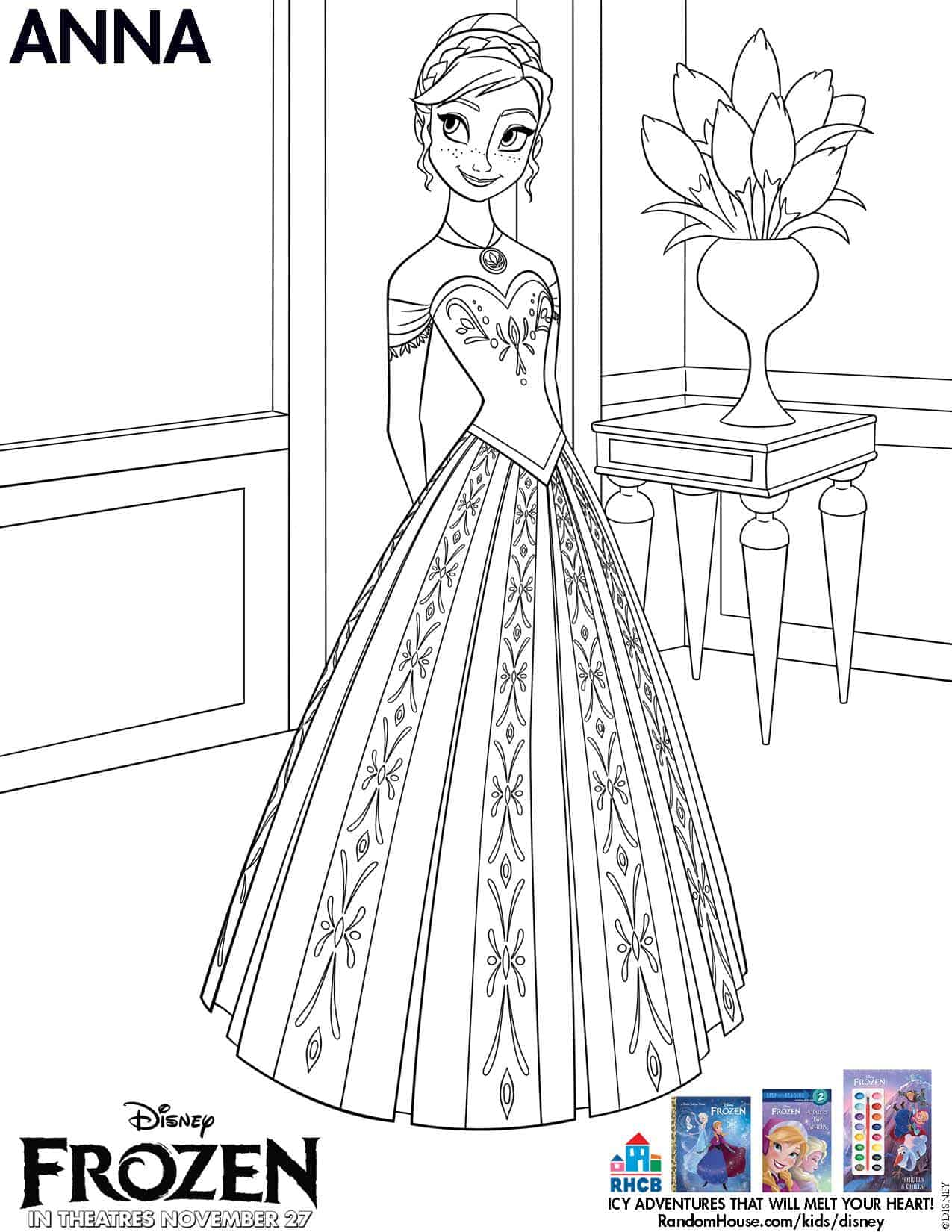 Coloring Pages Of Disney Frozen : Disney s frozen free printables disneyfrozen