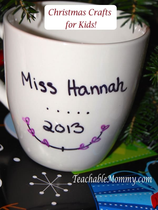 Christmas Crafts for Kids, DIY Mug Gift for Teachers