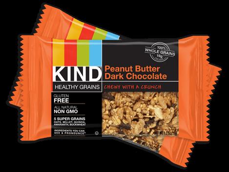 KIND healthy grains bars, nongmo, gluten free snacks