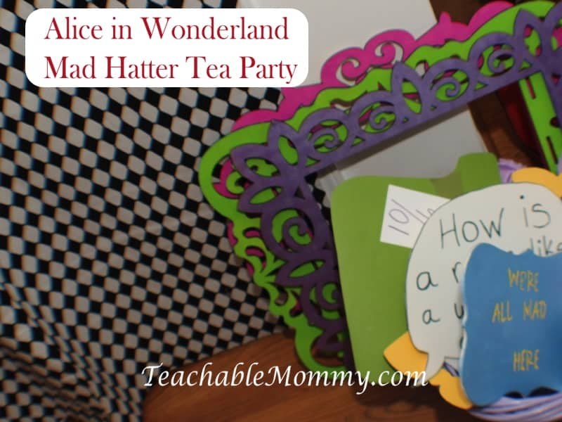 Alice in Wonderland Birthday Party, Mad Hatter Tea Party Birthday photo booth