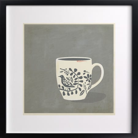 Minted.com, morning song art, coffee wall art