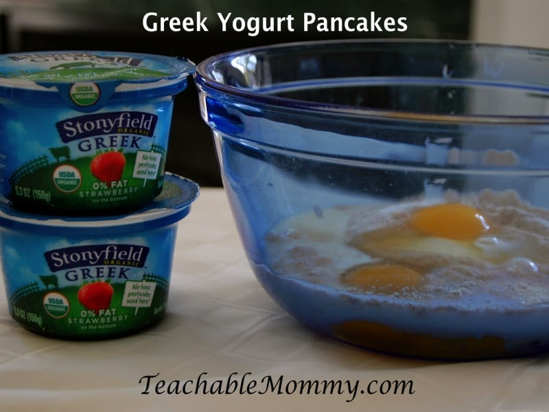 Whole Wheat Greek Yogurt Pancakes, Stonyfield Greek Yogurt, Greek Yogurt recipes