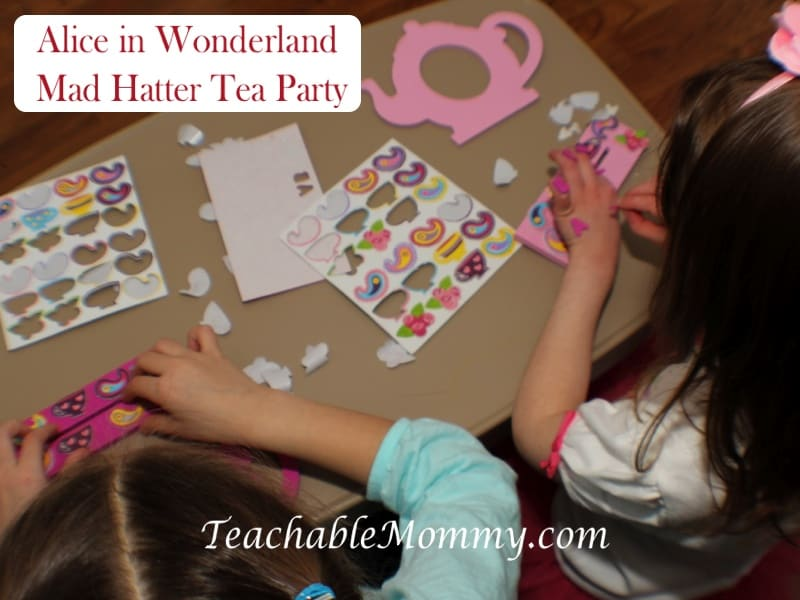 Alice in Wonderland Birthday Party, Mad Hatter Tea Party Birthday crafts