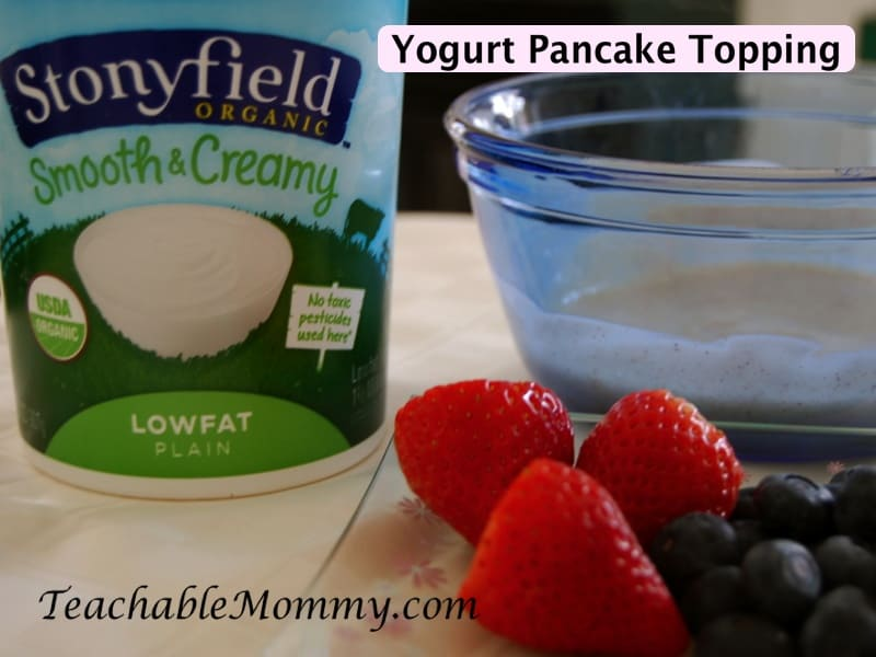 Yogurt Pancake topping, Pancake topping recipe
