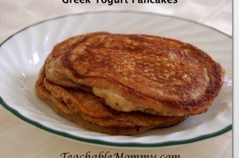 Celebrate National Pancake Week with Greek Yogurt Pancakes Featuring Stonyfield!