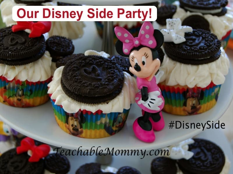 #DisneySide, Mickey Mouse Party, Minnie Mouse cupcakes