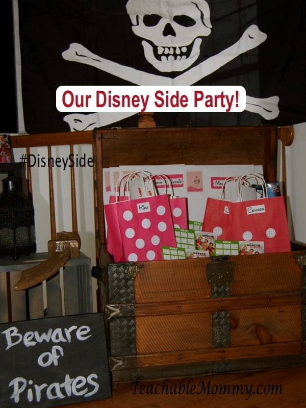 #DisneySide, Disney Goody Bags, Mickey and Minnie Bags, Pirates of the Caribbean Party