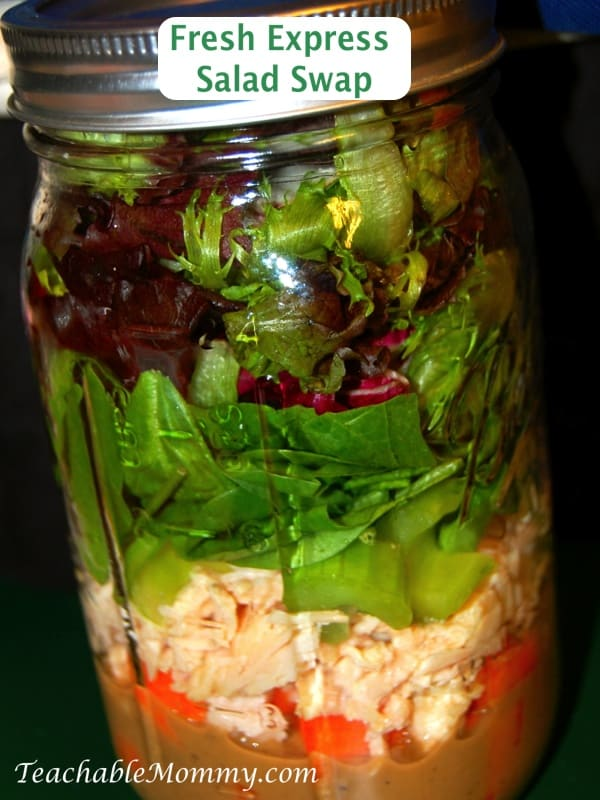 Fresh Express Salad Swap, Mason Jar Salad, Healthy Lunch Idea