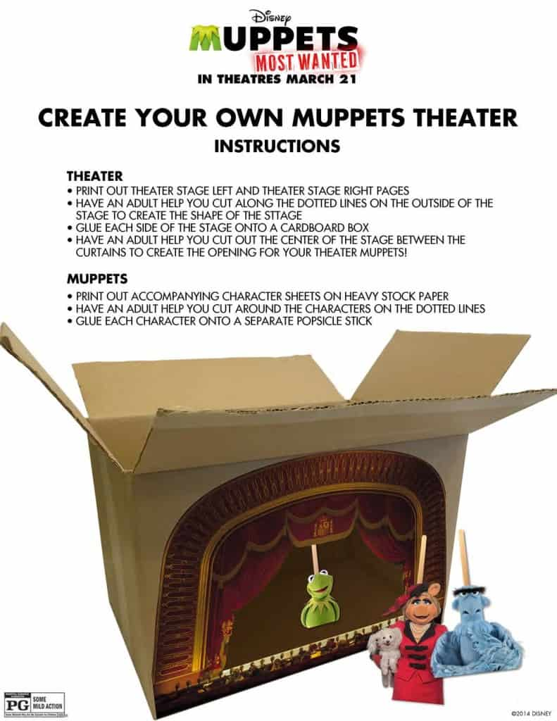 Muppets Theater, free Muppets printables
