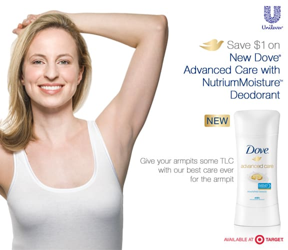 Dove New Deodorant, Dove Target Coupon