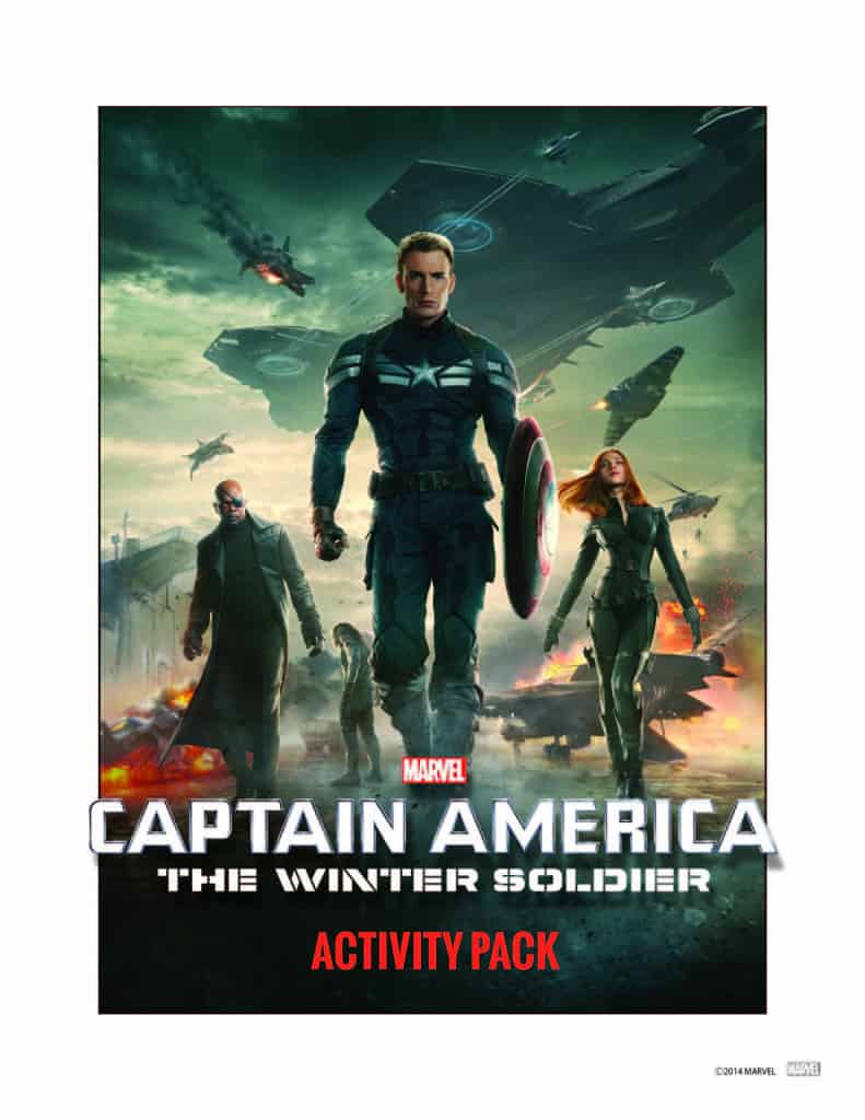 Captain America The Winter Soldier Activity Pack, Captain American Free Printables, Captain America Birthday Party free printables
