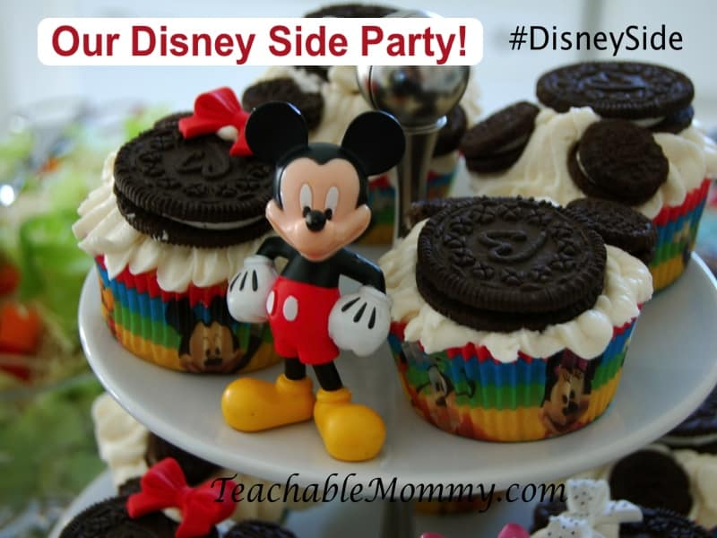#DisneySide, Mickey Mouse Party, Mickey Mouse cupcakes