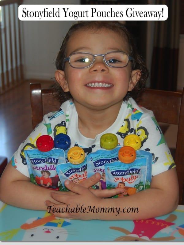 Stonyfield Yogurt Pouches Giveaway!
