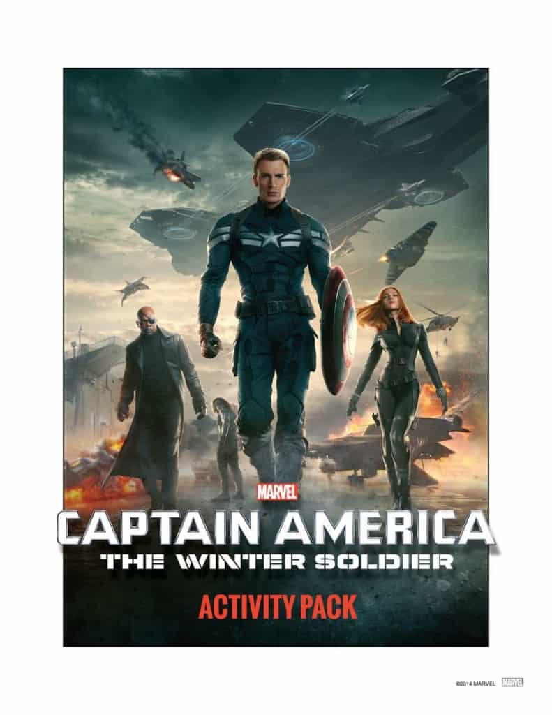 Captain America The WInter Soldier Activity Sheets, Captain America free printables