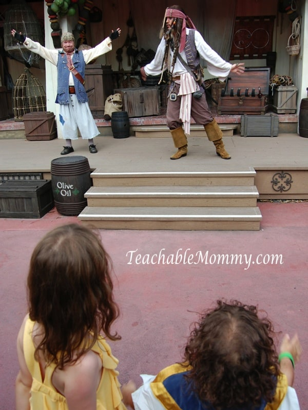Pirate Show at Disney World with Jack Sparrow