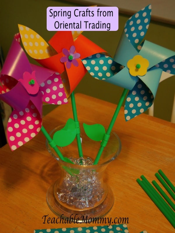 Spring Crafts for kids, spring crafts from oriental trading, spring decorations, spring decorations from Oriental Trading
