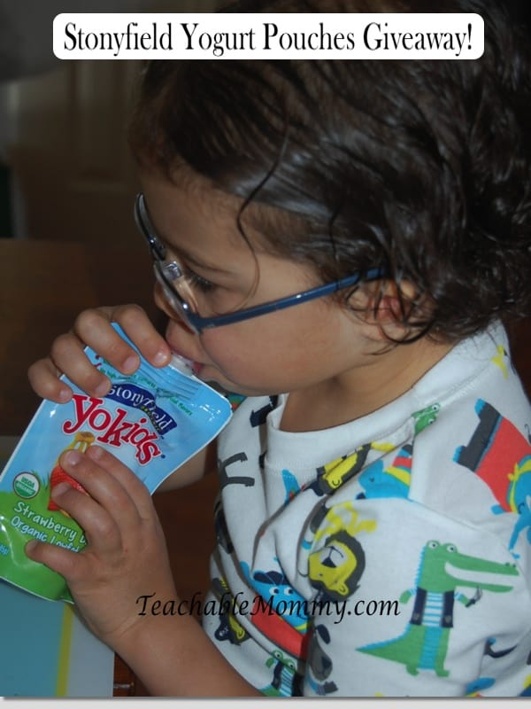 Stonyfield Yogurt Pouches Giveaway!