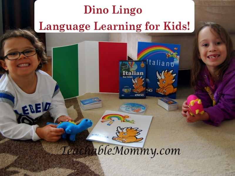 Dino Lingo language learning sets for kids