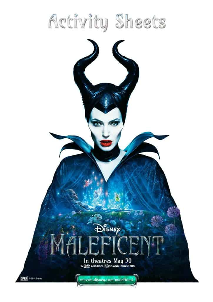 Maleficent free activity sheets, Maleficent free download