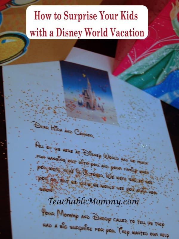 walt disney world vacation how to surprise the kids with a little disney magic teachable mommy. Black Bedroom Furniture Sets. Home Design Ideas