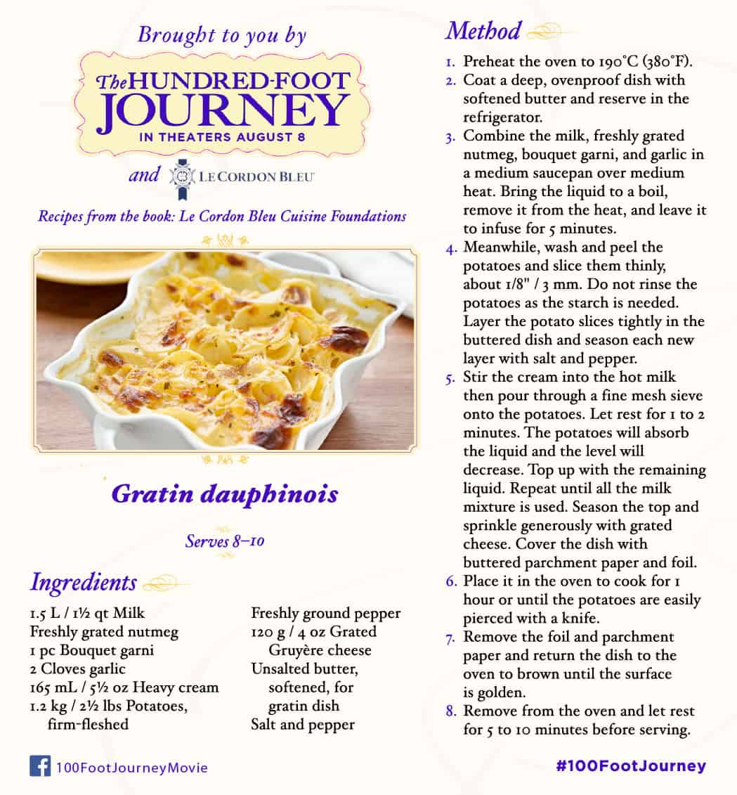 Gratin dauphinos recipe, 100 Foot Journey Recipes