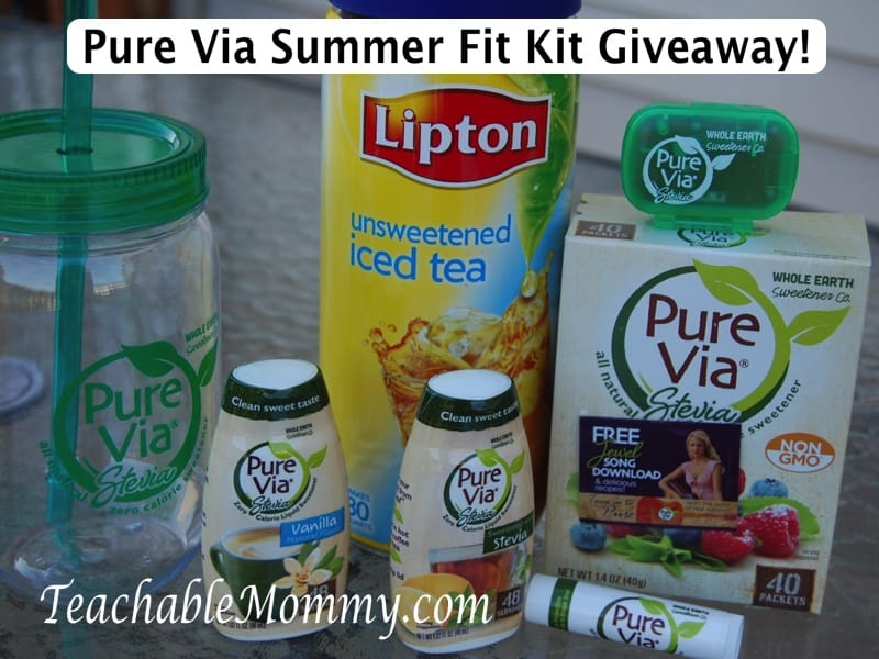 Pure Via Summer Fit Kit giveaway, Pure Via natural no calorie sweetener
