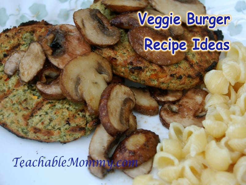 Veggie Burger toppings, Sunshine Burger,