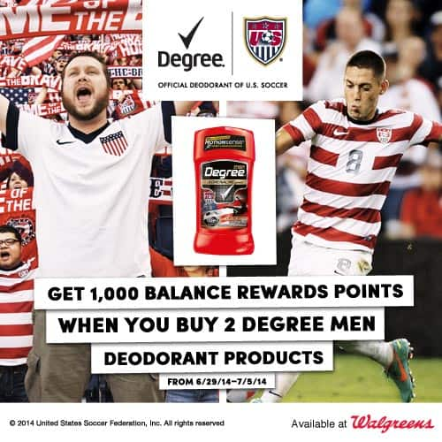 Degree MotionSense special walgreens offer