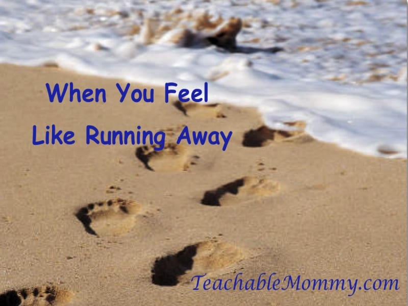 Running Away, Confessions of a Mom