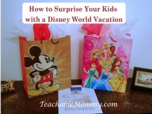 Disney World Surprise Trip, Surprise your kids with a trip to Disney World, Disney World Vacation Crafts