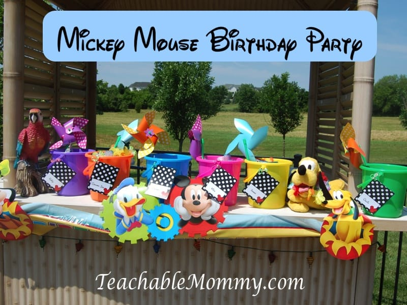 Mickey Mouse Birthday Party, Mickey Mouse Party, Mickey Mouse Luau, Mickey Mouse Goody Bags