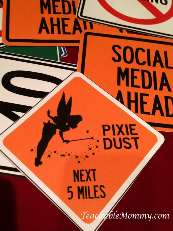 Disney Social media Moms on the road event, Tinkerbell Sign