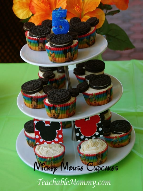 Mickey Mouse Birthday Party, Mickey Mouse Party, Mickey Mouse Luau, Mickey Mouse cupcakes