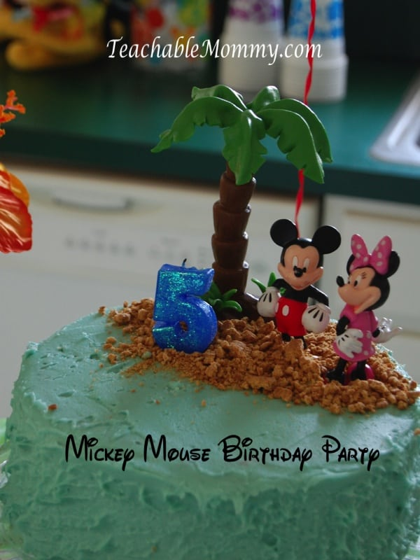 Mickey Mouse Birthday Party Luau Cake